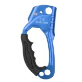 XINDA TP-8606 Outdoor Rock Climbing Aerial Work Anti-fall Handheld Rope Gripper for 8-12mm Diameter Rope Right (Blue)