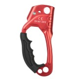 XINDA TP-8606 Outdoor Rock Climbing Aerial Work Anti-fall Handheld Rope Gripper for 8-12mm Diameter Rope Right (Red)