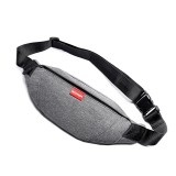 WEIXIER 9521 Portable Prevent Splashing Water Oxford Cloth Crossbody Shoulder Bag with Earphone Hole, Size: 29×12.5cm (Grey)