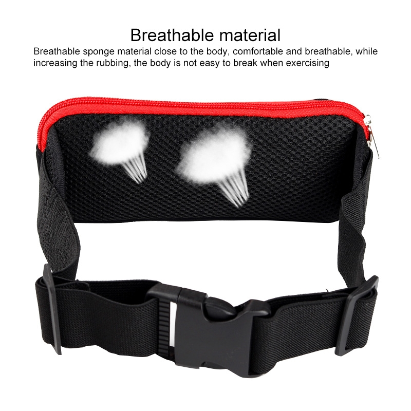 Multi-functional Sports Waterproof Waist Bag for Under 6 Inch Screen Phone, Size: 22x10cm (Black Blue)