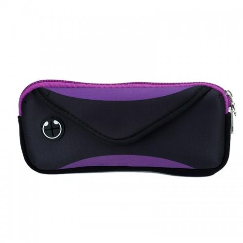 Multi-functional Sports Waterproof Waist Bag for Under 6 Inch Screen Phone, Size: 22x10cm (Purple)