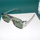 OF7209 HD Polarized UV Protection Two-color Pilot-style Square Frame Sunglasses (Dark green)
