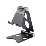 ROOSTAND R2 Aluminum Alloy Mobile Desktop Tablet Bracket Double Folding Lazy Artifact, Size: 6.4x7x9cm (Black)