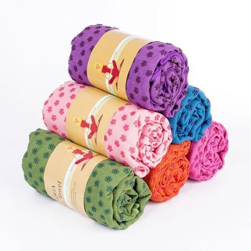 Microfiber Thickening Non-slip Yoga Blanket Long Washable Yoga Mat (Random Color)