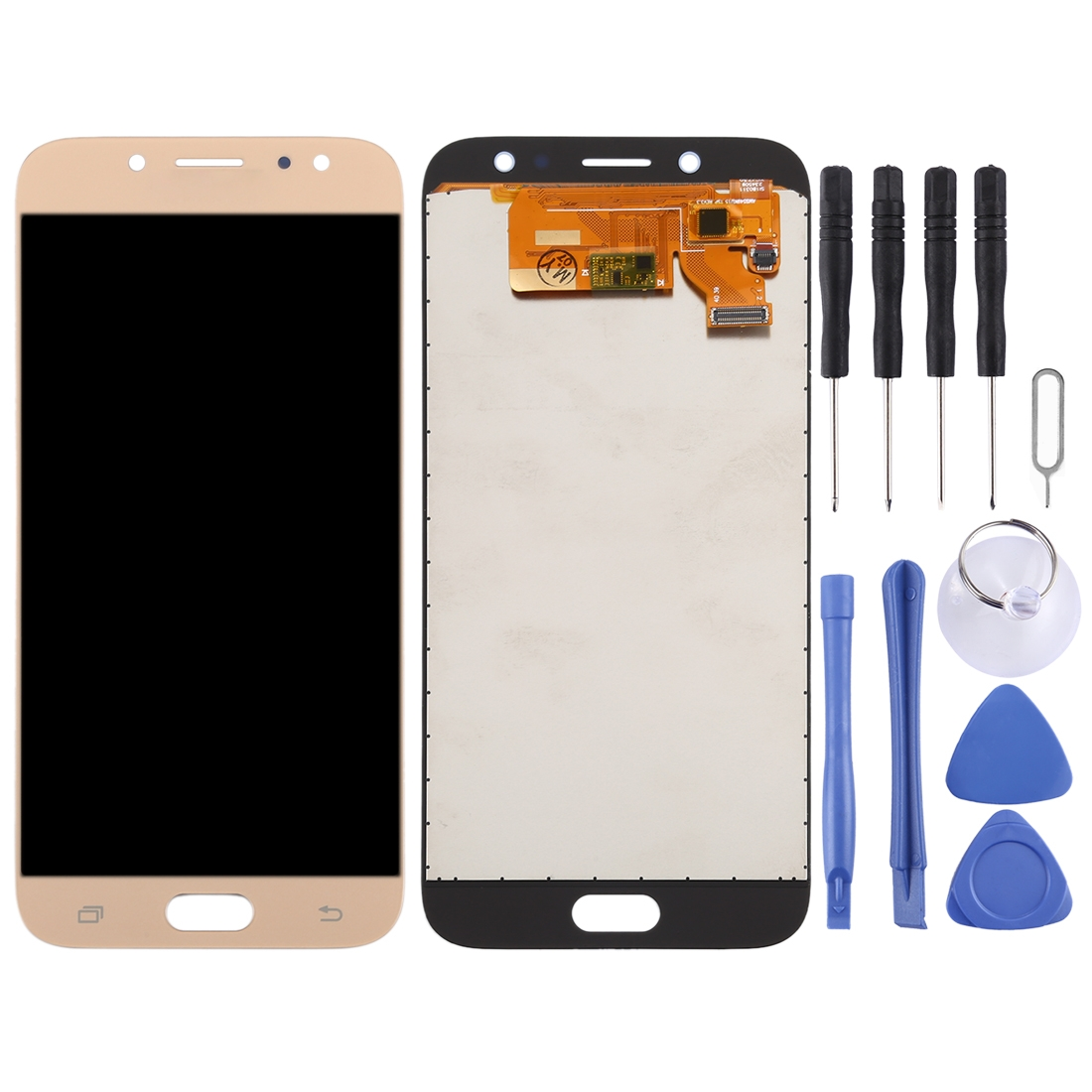 TFT Material LCD Screen and Digitizer Full Assembly for Galaxy J7 Black Color : Gold 2017 J730FM//DS,AT/&T J730F//DS