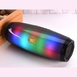 T&G TG165 5W*2 Portable Wireless Speaker Speaker With Dancing LED Flashing Light Mp3 AUX USB FM Radio Stereo Subwoofer (Black)