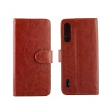 For Xiaomi MI CC9e/A3 Lite Crazy Horse Texture Horizontal Flip Leather Case with Holder & Card Slots & Wallet & Photo Frame (Brown)