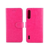 For Xiaomi MI CC9e/A3 Lite Crazy Horse Texture Horizontal Flip Leather Case with Holder & Card Slots & Wallet & Photo Frame (Magenta)