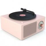 B10 Atomic Bluetooth Speakers Retro Vinyl Player Desktop Wireless Creative Multifunction Mini Stereo Speakers (Nordic Pink)