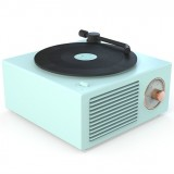 B10 Atomic Bluetooth Speakers Retro Vinyl Player Desktop Wireless Creative Multifunction Mini Stereo Speakers (Bamboo Spring Green)