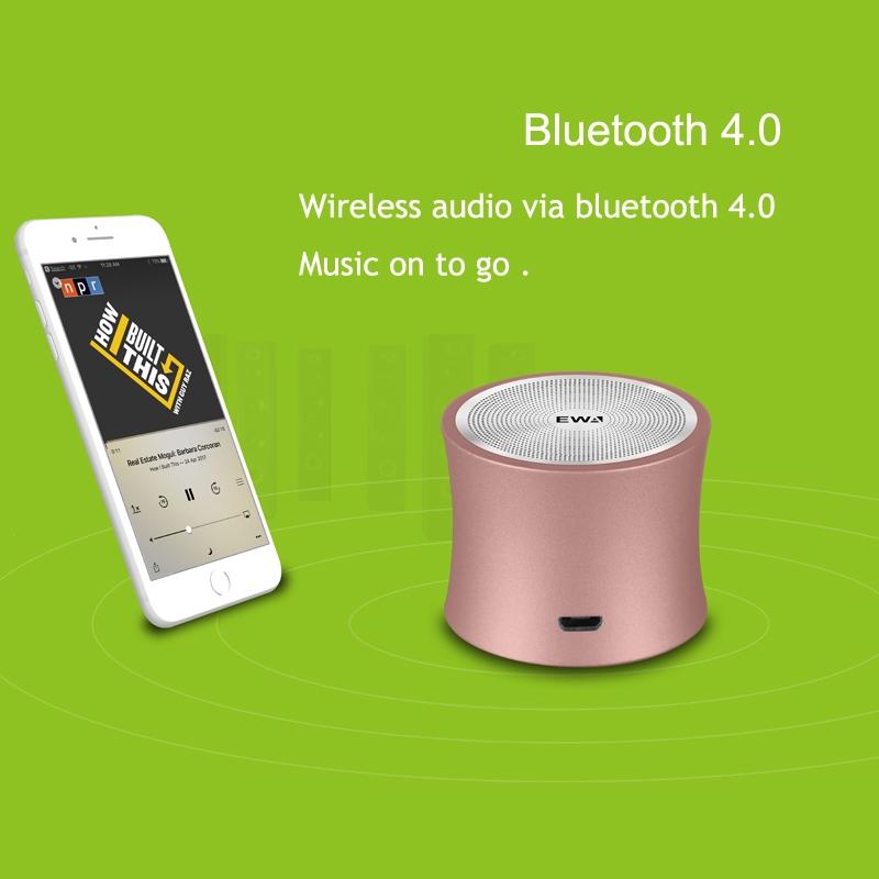 EWA A104 Bluetooth Speaker MP3 Player Portable Speaker Metallic USB Input MP3 Player Stereo Multimedia Speaker (Grey)
