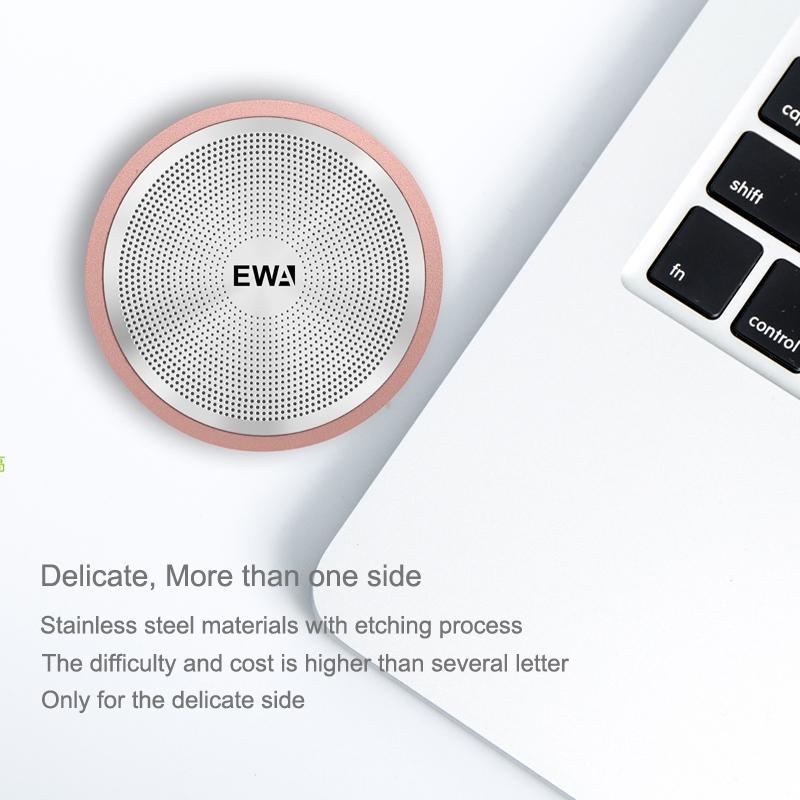EWA A104 Bluetooth Speaker MP3 Player Portable Speaker Metallic USB Input MP3 Player Stereo Multimedia Speaker (Rose Gold)