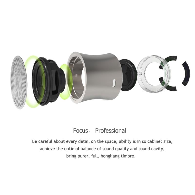EWA A104 Bluetooth Speaker MP3 Player Portable Speaker Metallic USB Input MP3 Player Stereo Multimedia Speaker (Sliver)