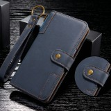 For Galaxy Note9 Cowhide Texture Horizontal Flip Leather Case with Holder & Card Slots & Wallet & Lanyard (Blue)