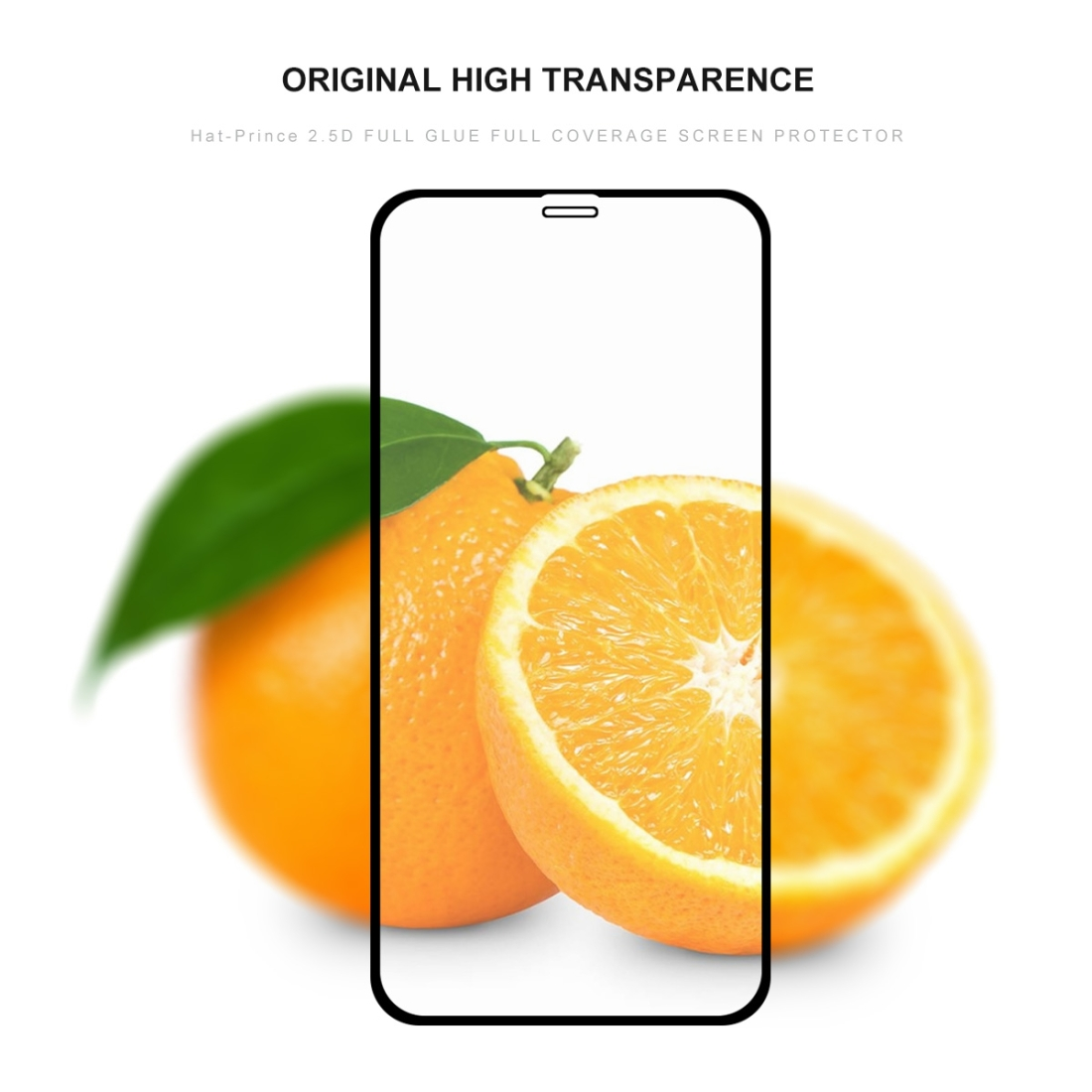 For iPhone 11 Pro Max Hat-Prince 2 in 1 Full Glue 0.26mm 9H 2.5D Tempered Glass Full Coverage Protector + 0.2mm 9H 2.15D Round Edge Rear Camera Lens Tempered Glass Film