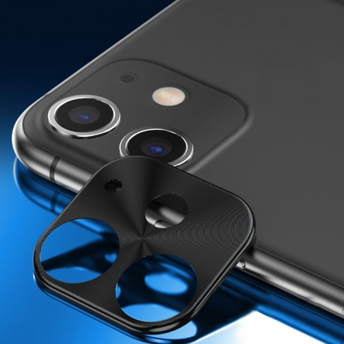 ENKAY Hat-prince Rear Camera Lens Metal Protection Cover for iPhone 11 (Black)