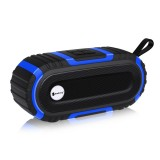 New Rixing NR5016 Wireless Portable Bluetooth Speaker Stereo Sound 10W System Music Subwoofer Column, Support TF Card, FM (Blue)