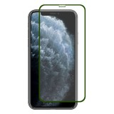 For iPhone 11 Pro Max ENKAY Hat-prince Full Glue 0.26mm 9H 2.5D Front Tempered Glass Full Coverage Film and Black Film with Camera Lens Protector Function (Green)