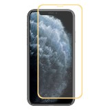 For iPhone 11 Pro Max ENKAY Hat-prince Full Glue 0.26mm 9H 2.5D Front Tempered Glass Full Coverage Film and Black Film with Camera Lens Protector Function (Gold)