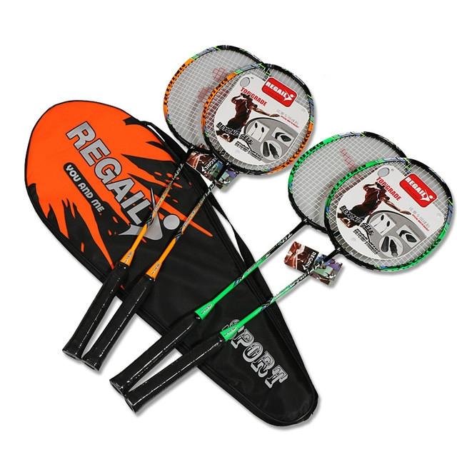 REGAIL 8019 2 in1 Carbon Durable Badminton Racket with Tote Bag (Orange)
