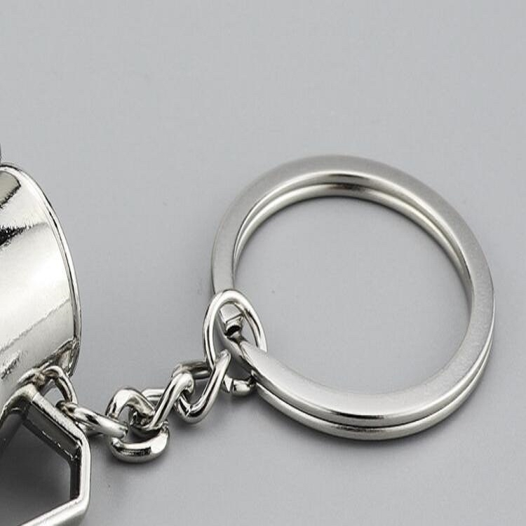 Creative Coffee Appliance Keychain Metal 3D Mini Coffee Pot Pendant, Color: Coffee Pot Black