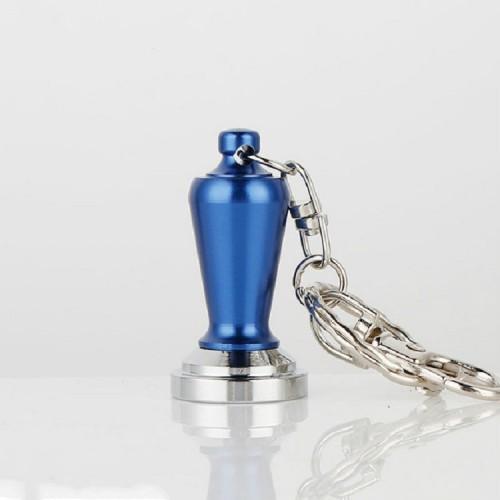 Creative Coffee Decorations Ornaments Powder Keychain (Dark Blue)
