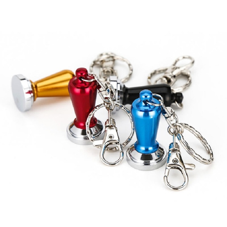 Creative Coffee Decorations Ornaments Powder Keychain (Red)