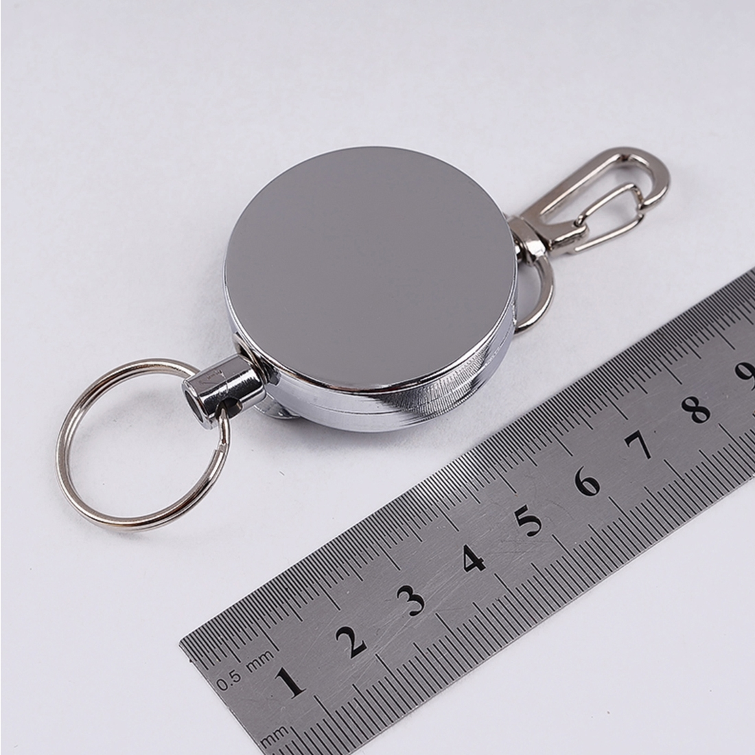 Resilience Steel Wire Rope Elastic Sporty Retractable Anti Lost Keychain