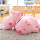 40-100cm Bigger Size Toys Cartoon Pink Pig Plush Toys Pillow Soft Cushion Chinese Zodiac Pig Doll Birthday Gift, Height: 100cm (Pink)