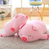 40-100cm Bigger Size Toys Cartoon Pink Pig Plush Toys Pillow Soft Cushion Chinese Zodiac Pig Doll Birthday Gift, Height: 80cm (Pink)