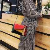Autumn Winter Female Small Flap Bag Matte PU Patch Shoulder Messenger Bag Fashion Small Square Bag (Red)