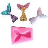 10 PCS Fondant Mermaid Fishtail Silicone Mold Baking Tools Chocolate Cake Decorating Mold