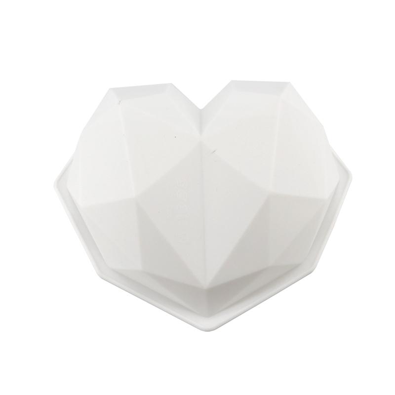 3 PCS Diamond Love DIY Cake Silicone Mold Sponge Baking Tool Chiffon Mousse Dessert Mold