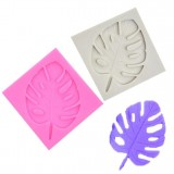 2 PCS DIY Tree Leaf Fondant Mould Chocolate Cake Decorating Mould (Pink)