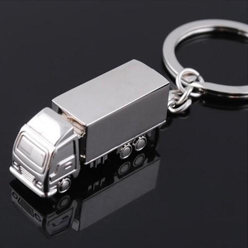 2 PCS Creative Keychain Metal Solid Van Gift Pendant