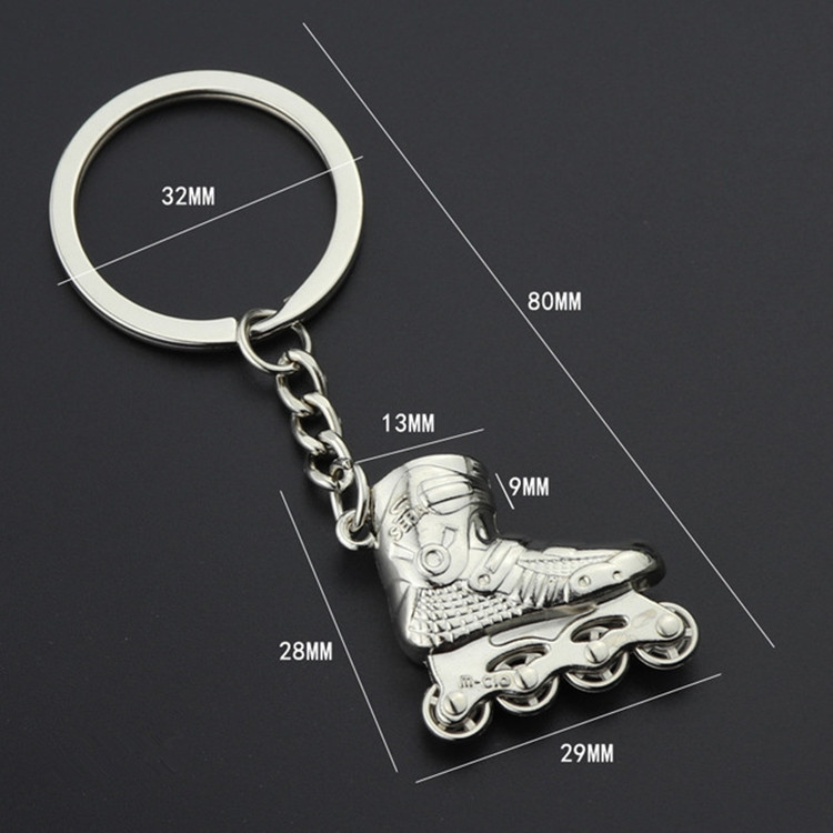 Creative Simulation Skates Keychain Personalized Pendant Gift (Red)