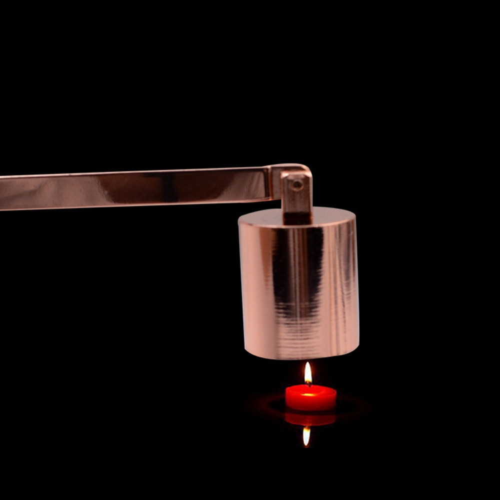 Candle Extinguisher Cover Candle Candle Hood Candle Candle Scent Candle Tool, Color: Rose gold