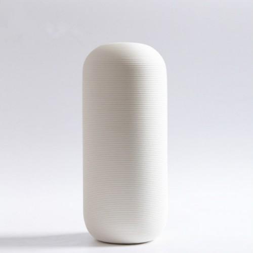 4 PCS Creativity Simple White Vases Ceramic Vases Home Decoration, Size: Large