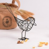 2 PCS Ldyllic Wrought Iron Bird Metal Gifts Crafts Table Home Decoration Handcraft Accessories (Black)