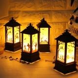 2 PCS Halloween Portable Simulation Flame Light Decoration Props Desktop Decoration (Broom Witch)