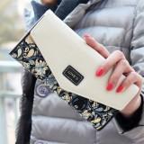 Fashion Ladies Leather Clutch Bag Purse Long Cartoon Wallet Coin Purse (Black)