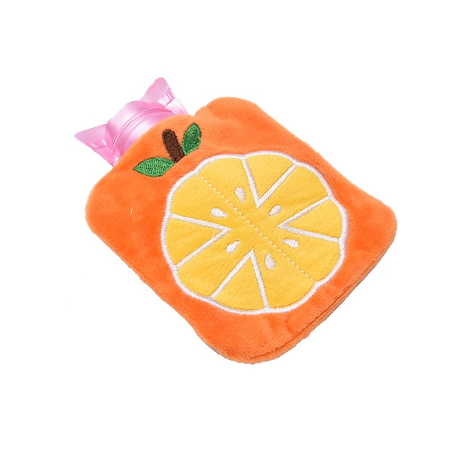 Warm Safe Reliable Rubber Washable Household Hot Water Bottle (Orange)