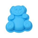 Silicone Bear Cake Mould Cartoon Mould DIY Baking Tool (Blue)