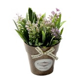 2 PCS Fake Flowers Grass With Plastic Artificial Potted Flowers For Rustic Garden Farmhouse Decoration (Pink)