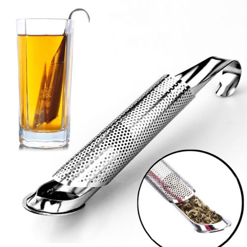 2 PCS Stainless Steel Tea Strainer Amazing Tea Infuser Pipe Design Touch Feel Good Holder Tool Tea Spoon Infuser Filter