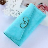 Ladies Purse Coin Purses Holders Lady Pocket Wallets (Light blue)