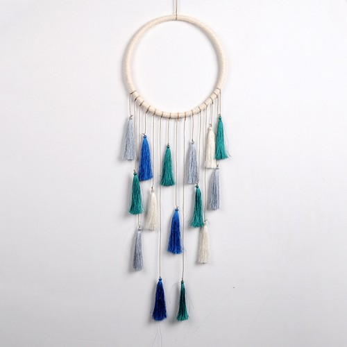 Creative Weaving Crafts Car Ornaments Gradual Tassel Wind Chime Dreamcatcher Wall Hanging Decoration, Color: Green