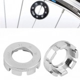 Bicycle spoke wrench tool 8 Way Cycling Wheel Rim Spanner Wrench Repair Tool Accessories (Silver)