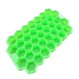 2 PCS 37 Grids Ice Cubes Honeycomb Ice Cream Maker Form DIY Mould Popsicle Molds Yogurt Ice Box Fridge Treats Freezer (Green)
