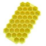2 PCS 37 Grids Ice Cubes Honeycomb Ice Cream Maker Form DIY Mould Popsicle Molds Yogurt Ice Box Fridge Treats Freezer (Yellow)